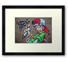 Cheo- I can scribble! Framed Print