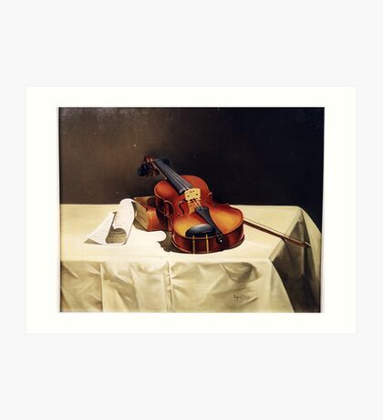 LONELY VIOLIN Art Print