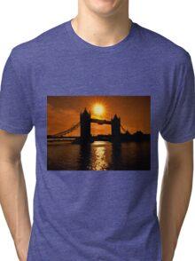 Sunrise Over Tower Bridge Tri-blend T-Shirt