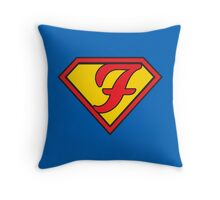 Super F Throw Pillow