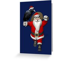 Santa Claus Loves Ravens Greeting Card
