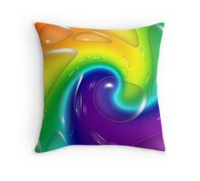 Rainbow Bubbles Throw Pillow