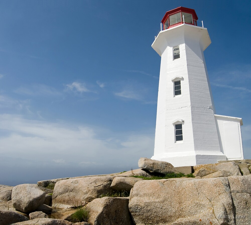 Peggys Cove Lighthouse by Mary  Lane