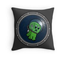 Astro Creeper in the Space Throw Pillow