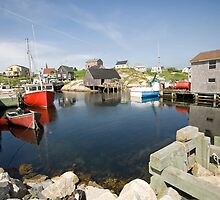Peggys Cove by Mary  Lane