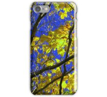 Sunny Yellow Leaves with Branches iPhone Case/Skin