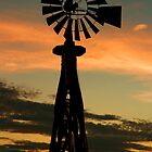 SUNSET WINDMILL by Cindi Smith