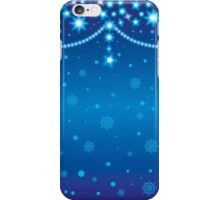 Merry Christmas blue light background iPhone Case/Skin