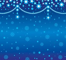 Merry Christmas blue light background by vinainna