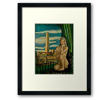 Nude and Chimney Stack Framed Print