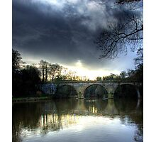 Winter skies over Durham Photographic Print