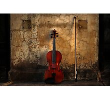 Violin and Bow Photographic Print