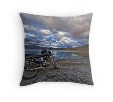 Royal Enfield Throw Pillow