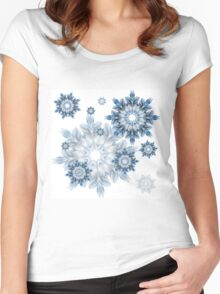 Let it snow! Women's Fitted Scoop T-Shirt