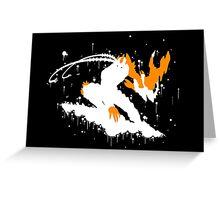 Varus Blight Crystal Ink Black Greeting Card