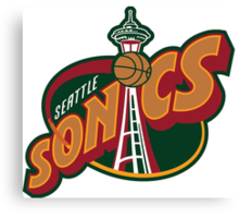 Seattle Supersonics Canvas Print