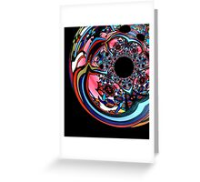 Rose contemporary abstract art red black floral design Greeting Card