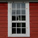 Old Cider Mill Window with Candle  by Pamela Burger
