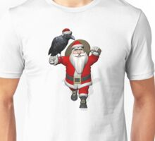 Santa Claus Loves Ravens Unisex T-Shirt