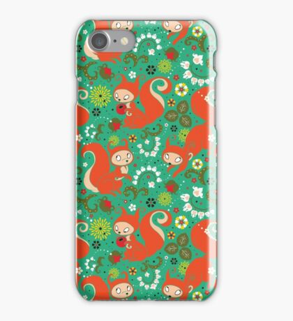 Nutty Squirrel Pattern  iPhone Case/Skin