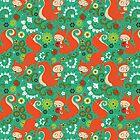 Nutty Squirrel Pattern  by Kimazo