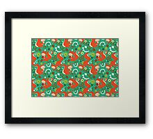 Nutty Squirrel Pattern  Framed Print