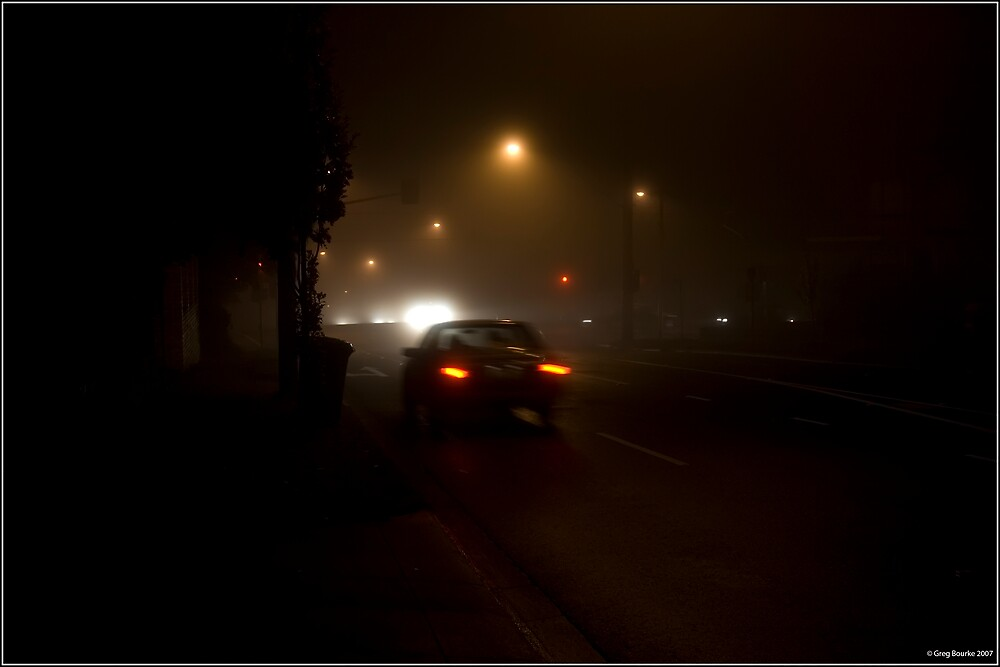 Car in fog by GregB