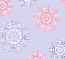 Colorful snowflakes by HelgaScand