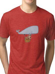 Whale Balloon Doggies Tri-blend T-Shirt