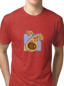 Close up Doggy Tri-blend T-Shirt