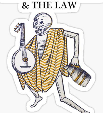 Langhorne Slim Skull Poster Sticker