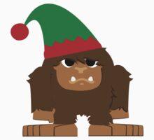 Cute Bigfoot Christmas Elf Kids Clothes