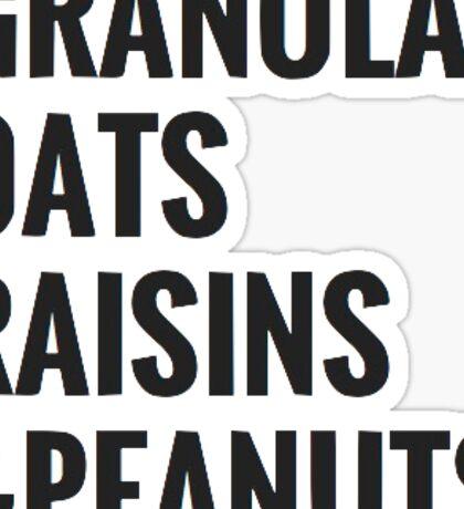 granola oats raisins & peanuts Sticker