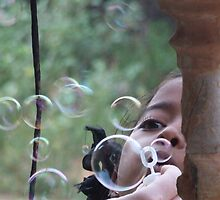 Blowing Bubbles by Coralie Alison