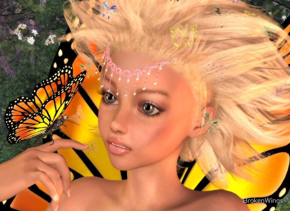 Butterfly Princess by BrokenWings