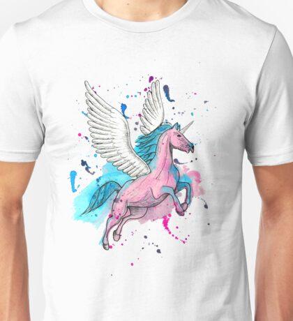 Watercolour Unicorn 1 Unisex T-Shirt
