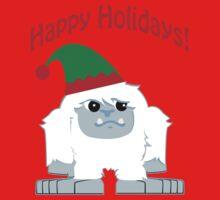 Happy Holidays! Cute Christmas Elf Yeti Kids Clothes