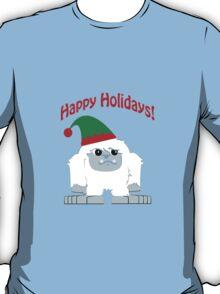 Happy Holidays! Cute Christmas Elf Yeti T-Shirt