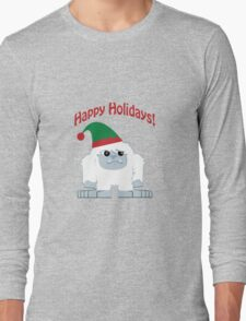 Happy Holidays! Cute Christmas Elf Yeti Long Sleeve T-Shirt