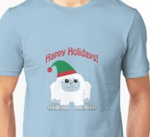 Happy Holidays! Cute Christmas Elf Yeti Unisex T-Shirt