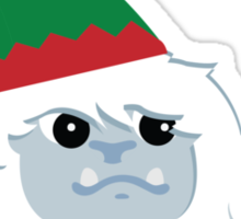 Happy Holidays! Cute Christmas Elf Yeti Sticker
