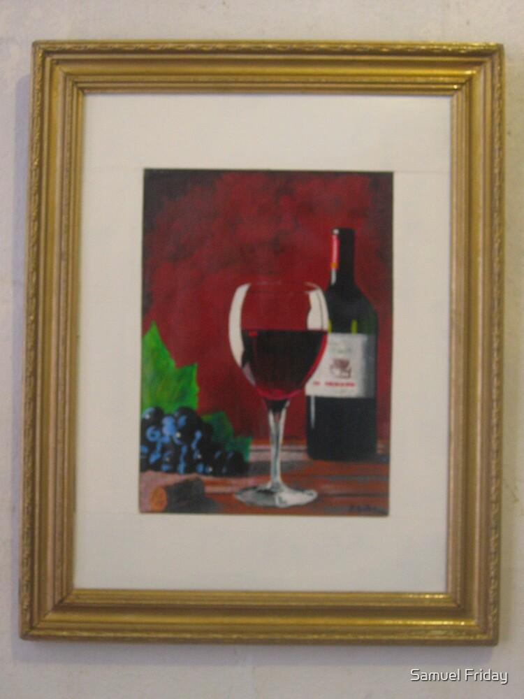 glass & wine by Samuel Friday