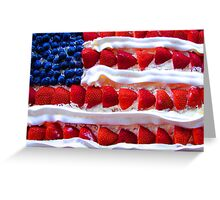 Red White and Yummy Greeting Card