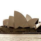 Sydney Opera House in sepia  by Martin Pot