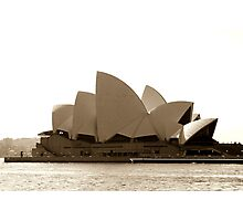 Sydney Opera House in sepia  Photographic Print
