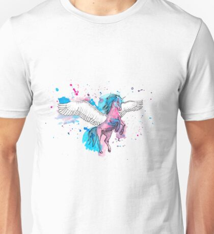 Watercolour Unicorn 2 Unisex T-Shirt