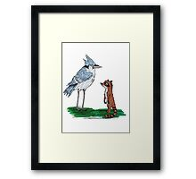 Mordecai and Rigby Framed Print