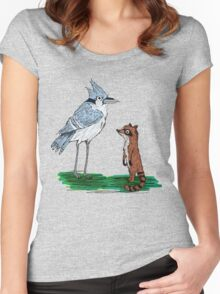 Mordecai and Rigby Women's Fitted Scoop T-Shirt
