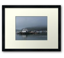 A Foggy Morning in Stonington Harbor Framed Print