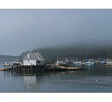 A Foggy Morning in Stonington Harbor Photographic Print